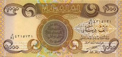 1 000 Iraqi Dinar Note