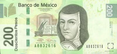 200 Mexican Peso Note Close