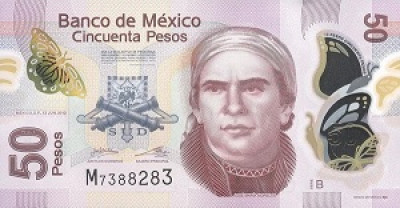 50 Mexican Peso Note