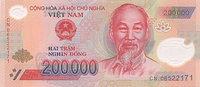 200 000 Vietnamese Dong Note Close