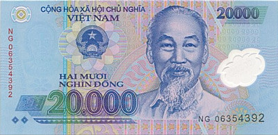 20 000 Vietnamese Dong Note Close