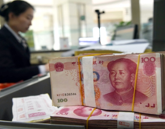 CHINA'S YUAN FIRMS, CENTRAL BANK SUSPECTED OF INTERVENING OFFSHORE