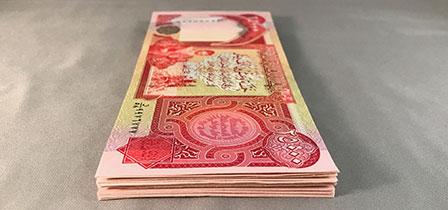 Circulated Iraqi Dinar notes